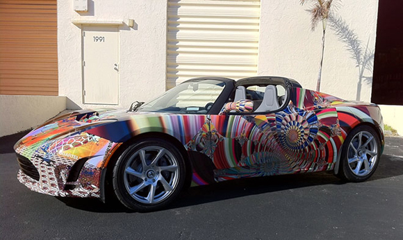 Tesla Art Car For Sale Side
