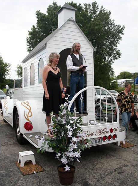 Best Man Mobile Wedding Chapel Art Car for the Busy