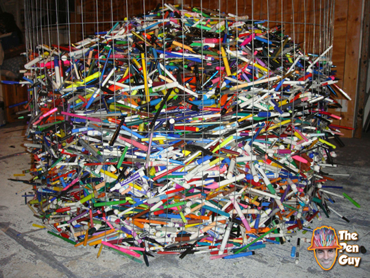 Pen Guy Collects 22,000 Used Pens So Far
