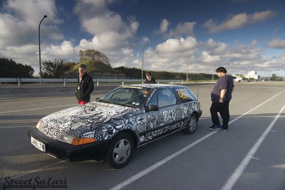 The Rorschach Sharpie Art Car - Street Safari
