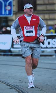Dad running the Prague Half-Marathon