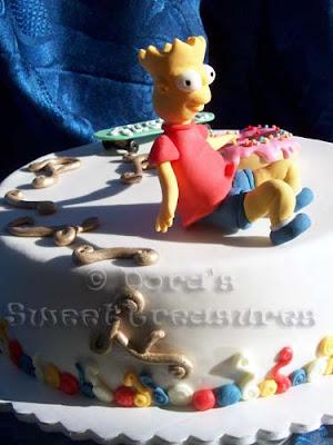 Articole culinare : BART SIMPSON CAKE / TORTA BART SIMPSON