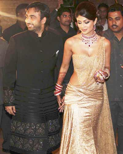 Wedding Reception on Celebrity Photos  Shilpa Shetty Star Studded Wedding Reception