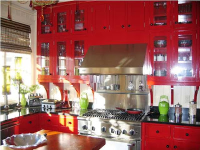 Recognize this red kitchen?