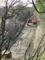 Devonshire Tunnel excavation from above