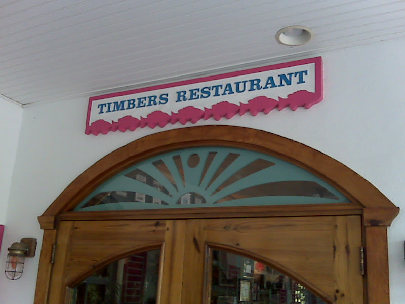 Front door of Timbers Restaurant, Sanibel Island, Florida