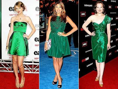 Cor de sapato para vestido verde
