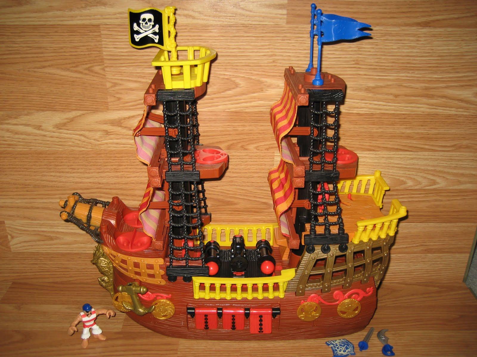 noboxtospeakof ( no box to speak of ): Imaginext Adventures Pirate Ship 2006 Fisher Price ...
