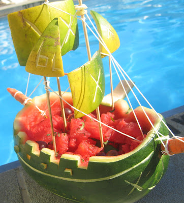 Fat and Happy Blog: Lesley's Watermelon Pirate Boat