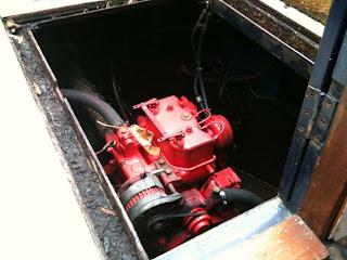 2 cylinder Bukh marine diesel engine