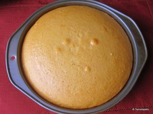 Eggless Vanilla Cake Recipe With Images : Eggless Yellow Sponge Cake ~ Tamalapaku