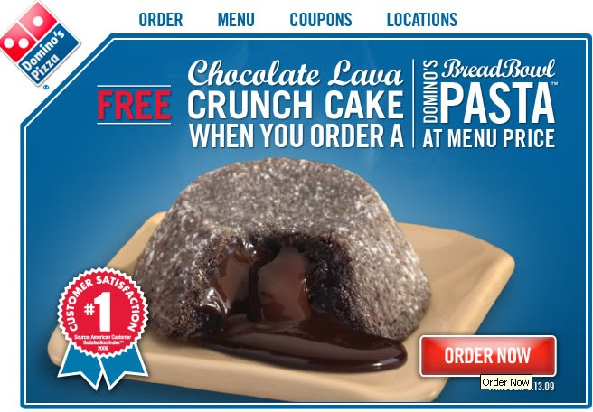 Dominos coupons lava cake 2018