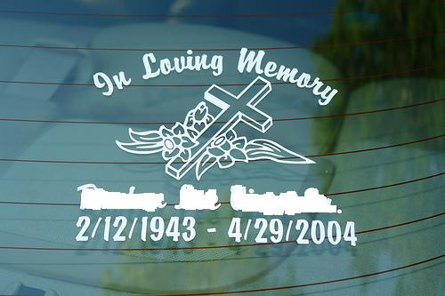 In Memory Of Decals