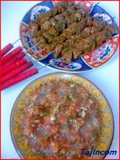 كباب المغرب يعني قطبان من لحم الغنمي Kabab+Marocain%2B