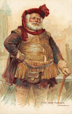 the comical character of sir john falstaff in henry iv a play by william shakespeare Falstaff's popularity on the elizabethan stage prompted shakespeare to announce, in the epilogue to henry iv, part 2, that the fat knight would appear in another play however, he does not appear in henry v , although he may have been a character m a lost, probably unacted version of that play.