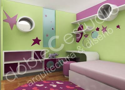 Decoracion de dormitorios juveniles diseno de interiores - Disenos de habitaciones juveniles ...