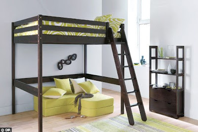 Fotos de camas altas literas para dormitorios diseno - Escaleras para camas altas ...