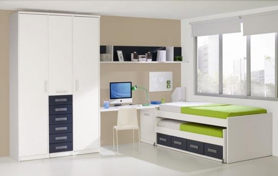 Dormitorios juveniles para espacios reducidos diseno de interiores - Dormitorios juveniles dobles ...