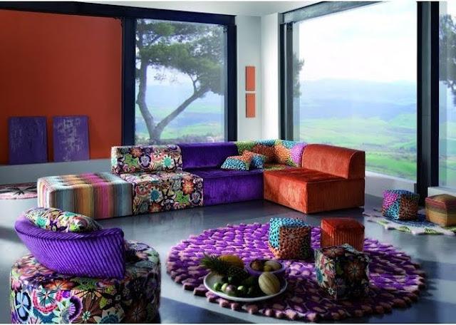 Salas modernas con muebles coloridos interior design blogs for Muebles para decorar living