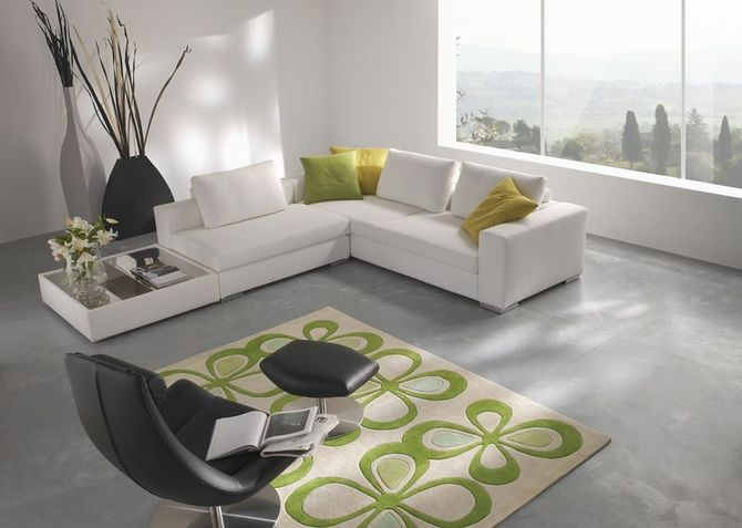 Salas modernas con muebles coloridos home design architectur for Salas esquineras