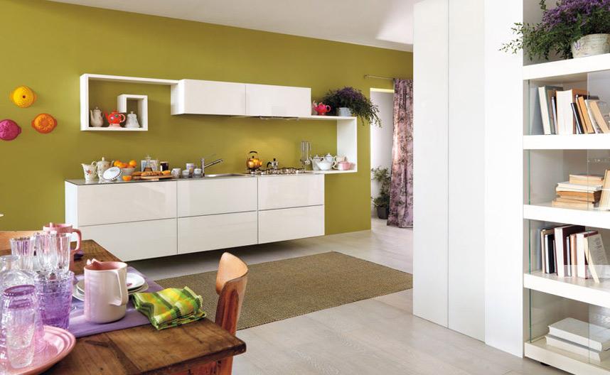 Cocinas modernas en colores frescos diseno de interiores - Cocinas modernas de colores ...