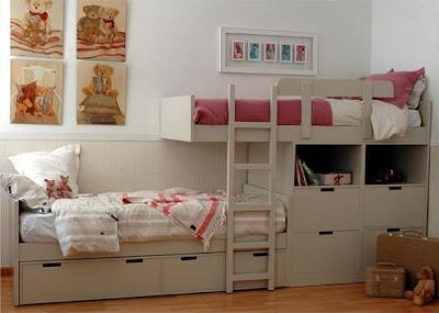 Camas dobles y triples para ninos ayuda a ahorrar espacio - Dormitorios dobles para ninos ...