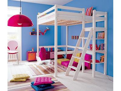 Camas dormitorios infantiles que ahorran espacio deco ideas for Habitaciones con camas altas