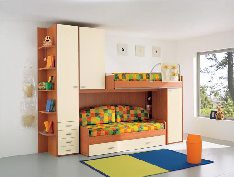 Dormitorios funcionales para ninos diseno de interiores - Habitaciones infantiles ninos ...