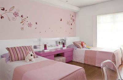 dormitorio-rosado-hermanas-quartos-menina