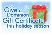 Dominion Gift Certificates