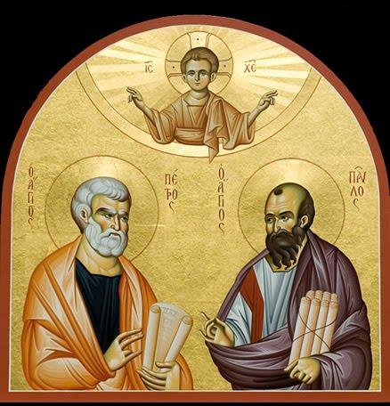 Pierre et Paul dans images sacrée Pietro+e+Paolo+2