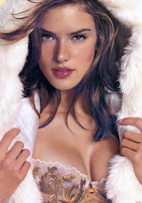 Alessandra Ambrosio in lingerie and swimwear