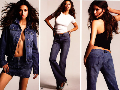 Adriana Lima in Blue jeans