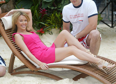 Kylie Minogue at the beach