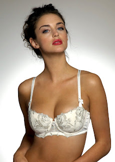 Lauren Budd models some sexy bras