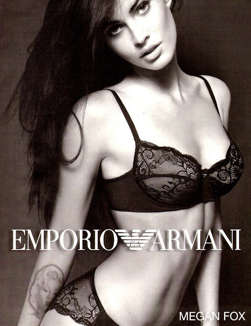 Megan Fox in Emporio Armani underwear