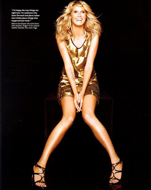 Heidi Klum in InStyle Magazine
