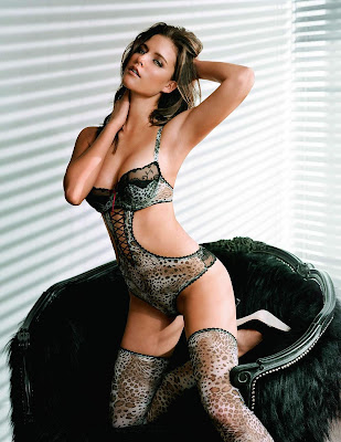 Kim Cloutier in sexy lingerie