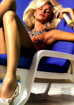 Dewi Driegen in a bikini