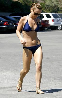 Christina Ricci in a black bikini