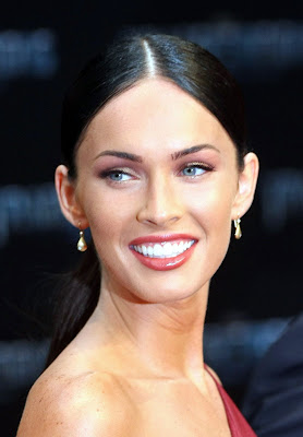 Megan Fox in an exceptionally sexy red dress
