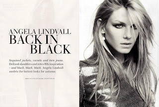 Angela Lindvall is looking sexy in H&M