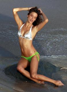 Alessandra Ambrosio at the Beach