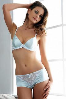 Reka Ebergenyi looks lovely in lingerie