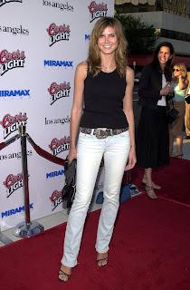 Heidi Klum in a black TShirt