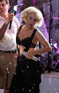 Lady Gaga gets wet on the Today Show