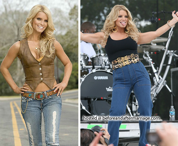 Jessica simpson before and after weight loss