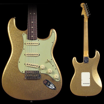 Custom Shop Fessler Gold Sparkle Strat
