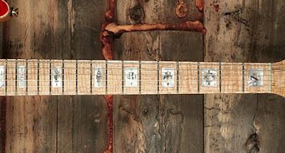 Zuni Guitars fretboard inlay