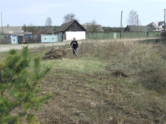Сгребание травы